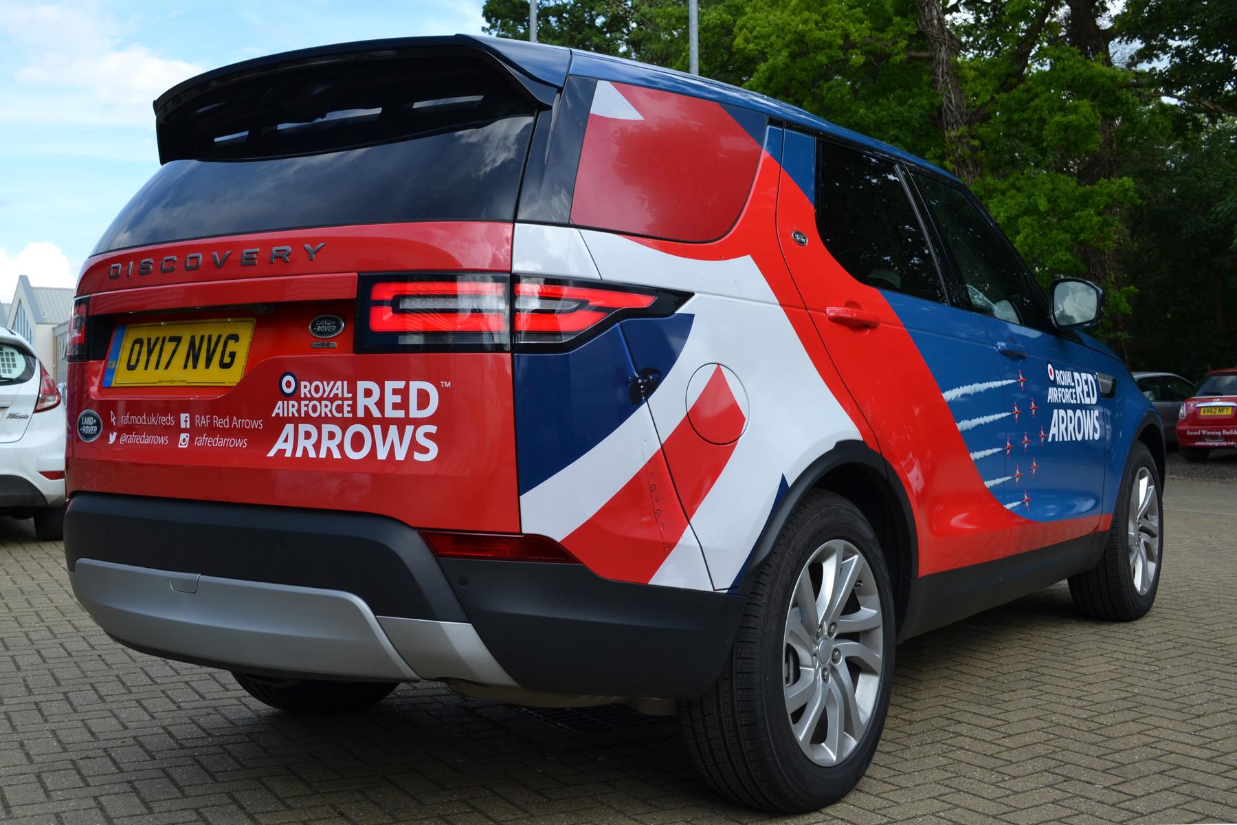 Aston Martin Cambridge & RAF Red Arrows – Coastline Graphics