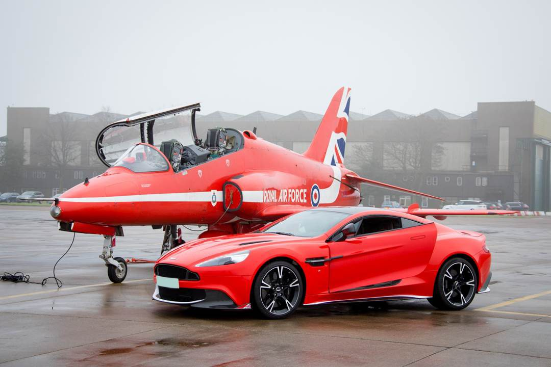 Red Arrows Aston Martin Vanquish Wrap Coastline Graphics