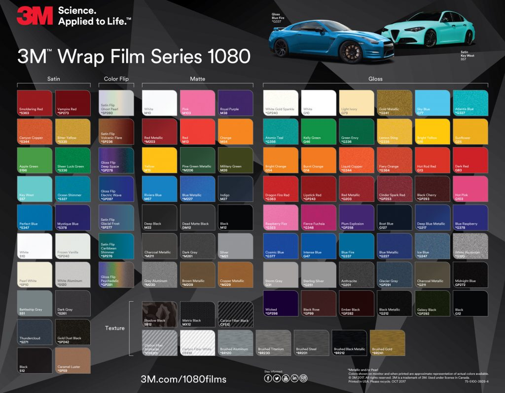 Eight Exciting New Colours from the 3M™ Wrap Film Series ...